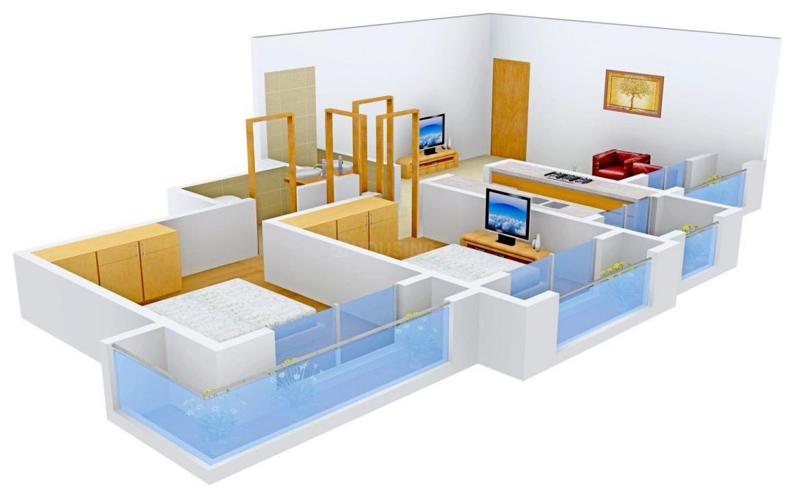 Floor Plan Image of 0 - 660 Sq.ft 2 BHK Apartment for buy in Metro Triple-S Heights