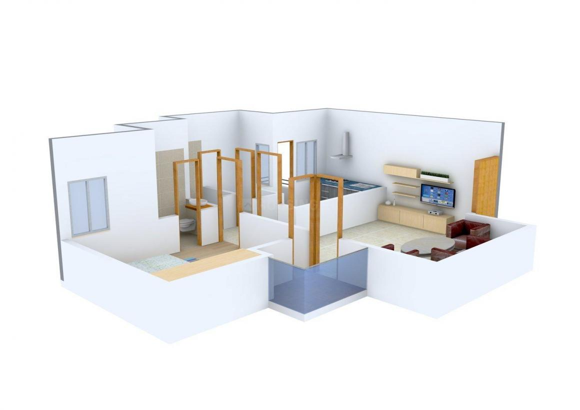 Floor Plan Image of 924 - 1520 Sq.ft 1 BHK Apartment for buy in Karamyogi Gram AGH