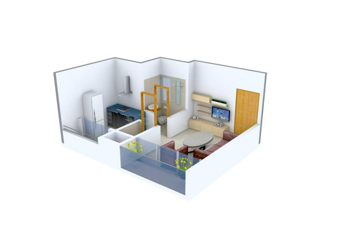 Floor Plan Image of 0 - 425 Sq.ft 1 RK Apartment for buy in Oasis Glory