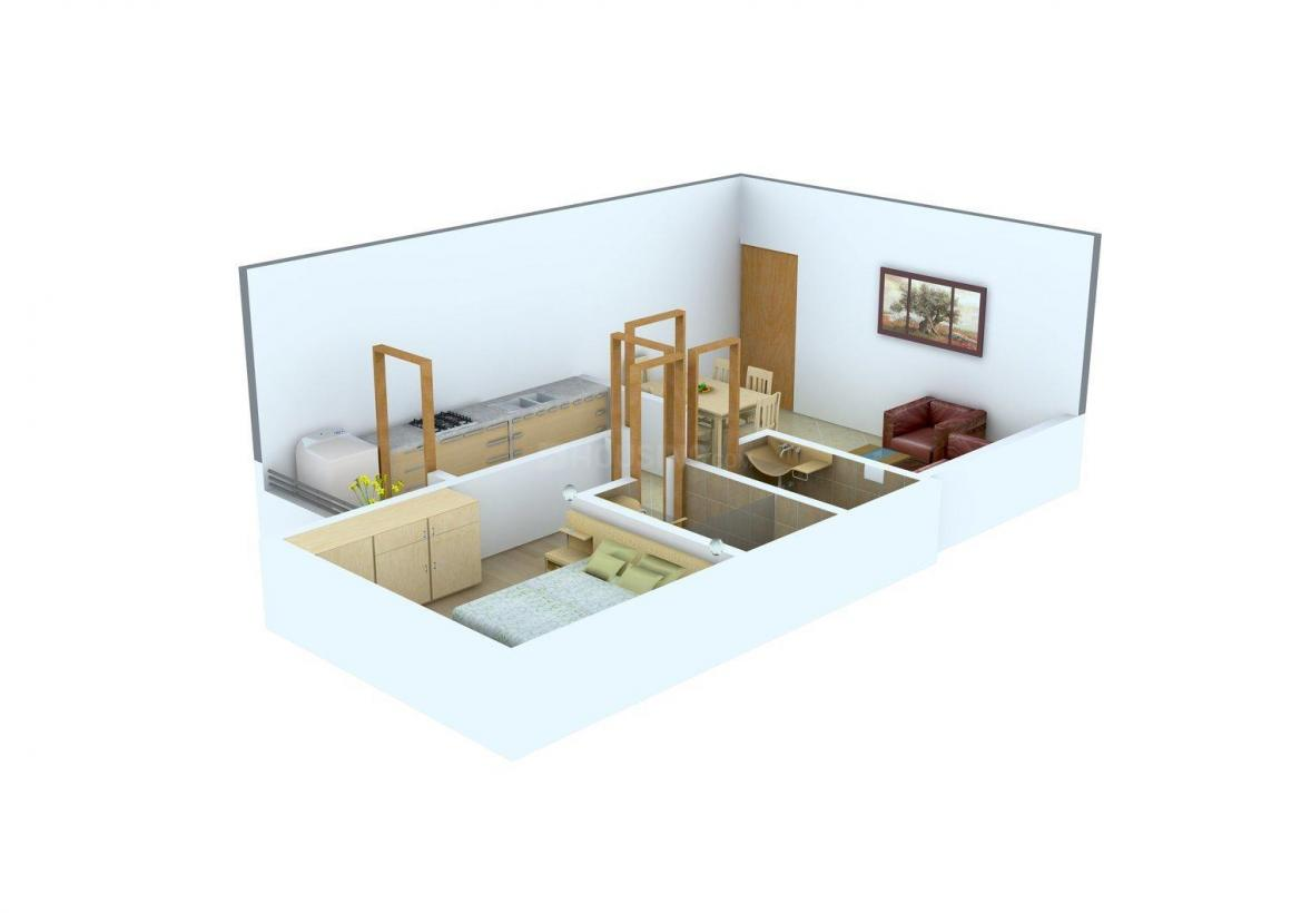 Floor Plan Image of 480.0 - 705.0 Sq.ft 1 BHK Apartment for buy in Oswal Prithvi Complex