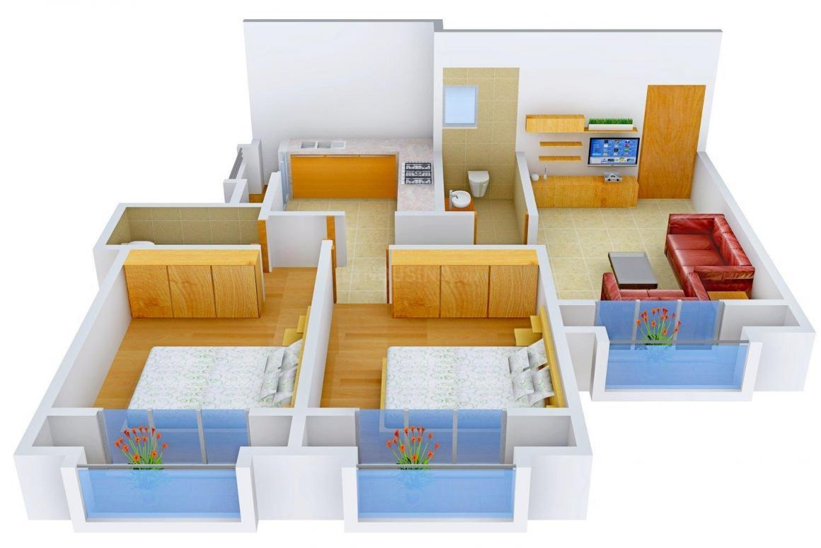 Floor Plan Image of 0 - 1035.0 Sq.ft 2 BHK Apartment for buy in Shree Samarth Nirvana