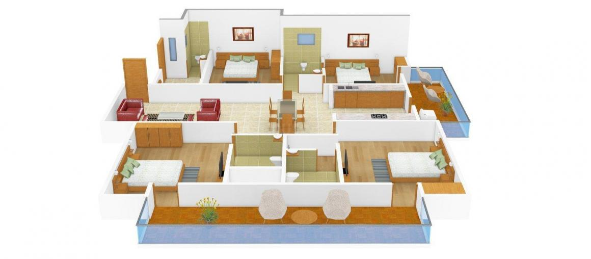 Floor Plan Image of 0 - 1990 Sq.ft 4 BHK Apartment for buy in Ladani Shree Maruti Manor