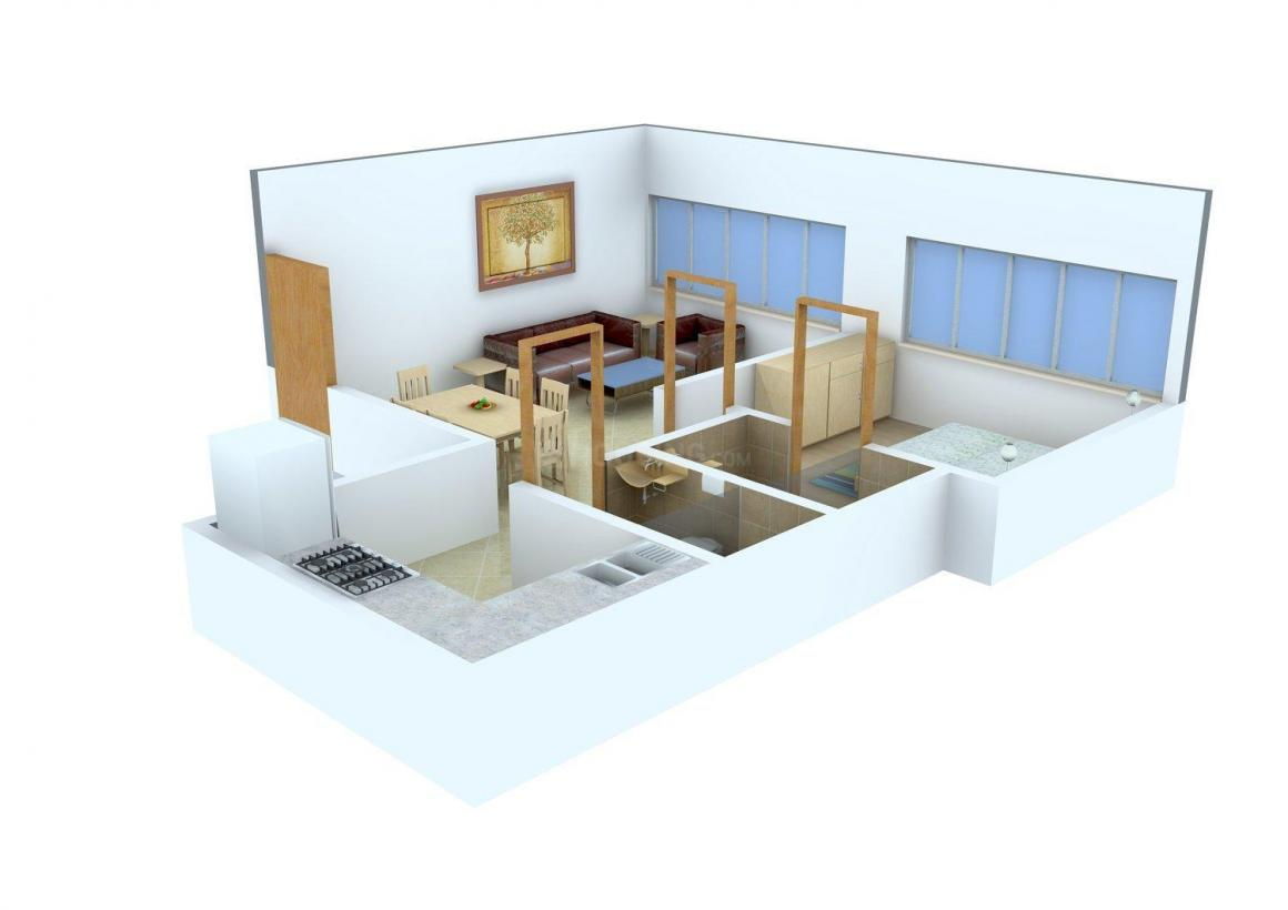 Floor Plan Image of 488.0 - 550.0 Sq.ft 1 BHK Apartment for buy in Sugee Hiranya