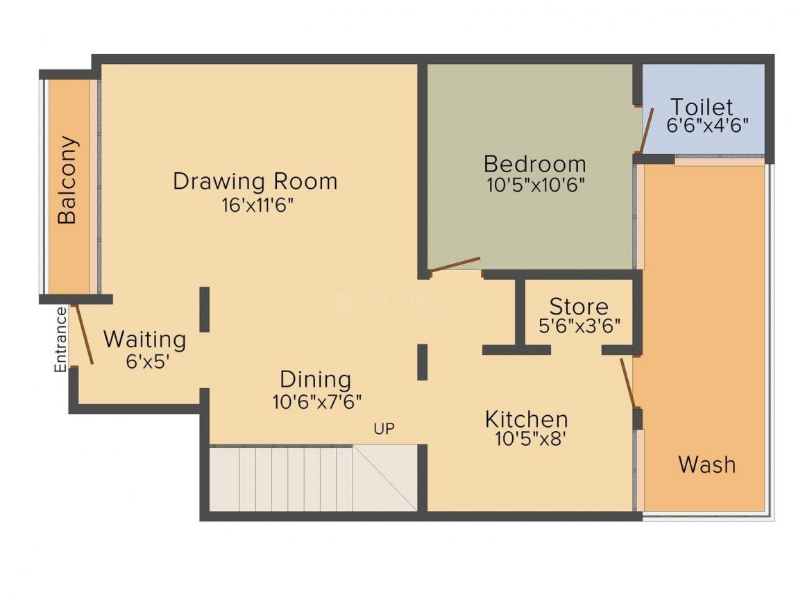 Avirat Silver Parikrama Floor Plan: 4 BHK Unit with Built up area of 2610 sq.ft 1