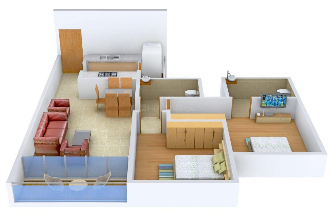 Floor Plan Image of 0 - 1191 Sq.ft 2 BHK Apartment for buy in A & O F.Residences Mulund