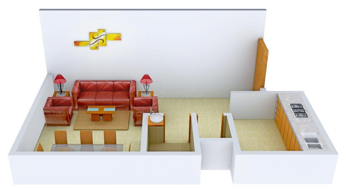 Floor Plan Image of 327.0 - 631.0 Sq.ft 1 RK Apartment for buy in Kusum Mangal