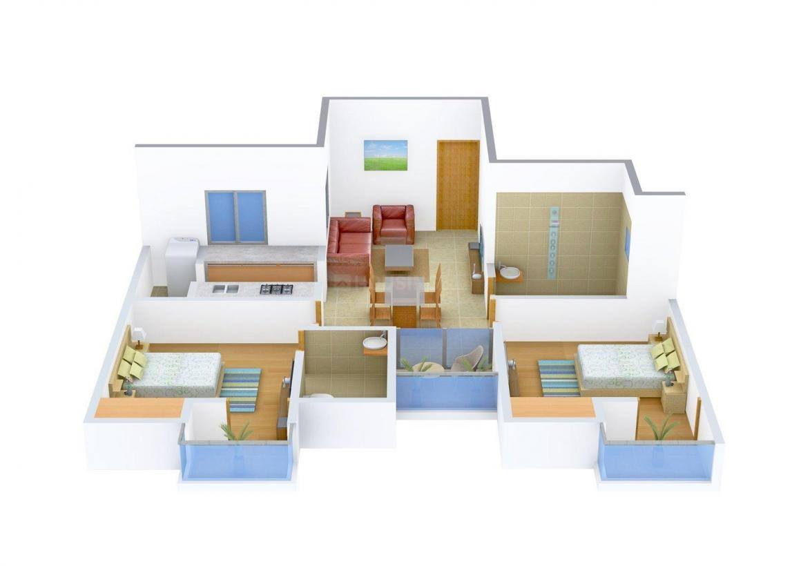 Floor Plan Image of 0 - 940 Sq.ft 2 BHK Apartment for buy in Ashiana Pearl