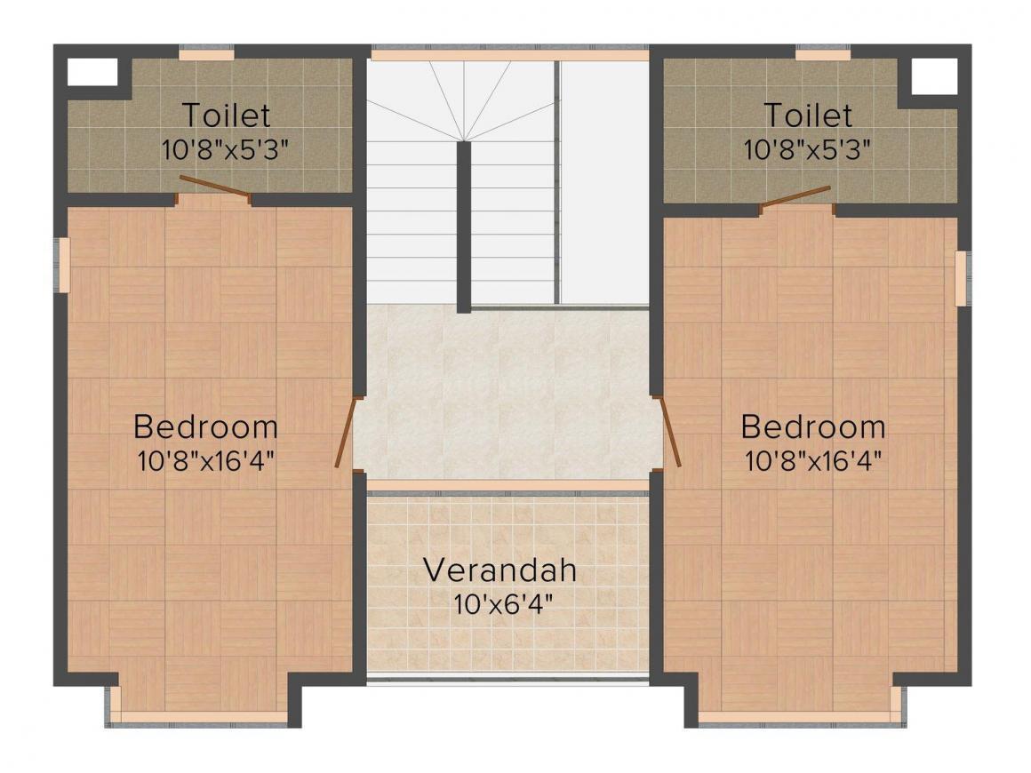 Floor Plan Image of 1683.0 - 1874.0 Sq.ft 2 BHK Villa for buy in Ambuja Hermitage