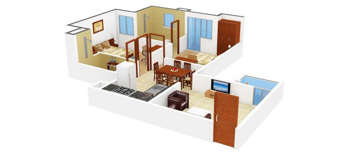 Floor Plan Image of 871 - 1450 Sq.ft 2 BHK Apartment for buy in SRS City Royal Hills
