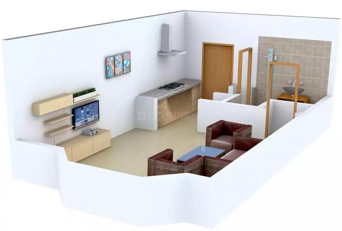 Onnyyx Sai Villa Floor Plan: 1 BHK Unit with Built up area of 390 sq.ft 1
