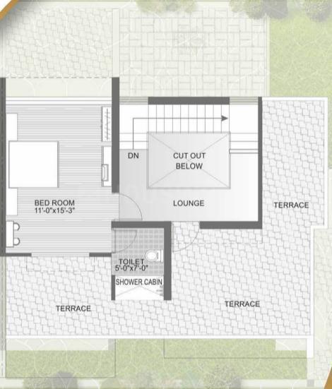 Ugati Ugati Enclave Floor Plan: 4 BHK Unit with Built up area of 2925 sq.ft 2