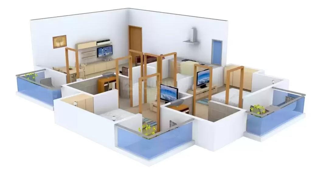Floor Plan Image of 1100.0 - 2200.0 Sq.ft 2 BHK Apartment for buy in ATFL Defence County