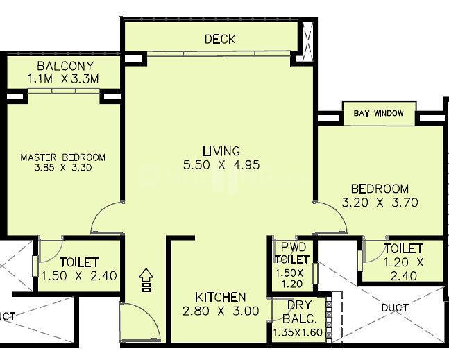 Odela Floor Plan: 2 BHK Unit with Built up area of 841 sq.ft 1