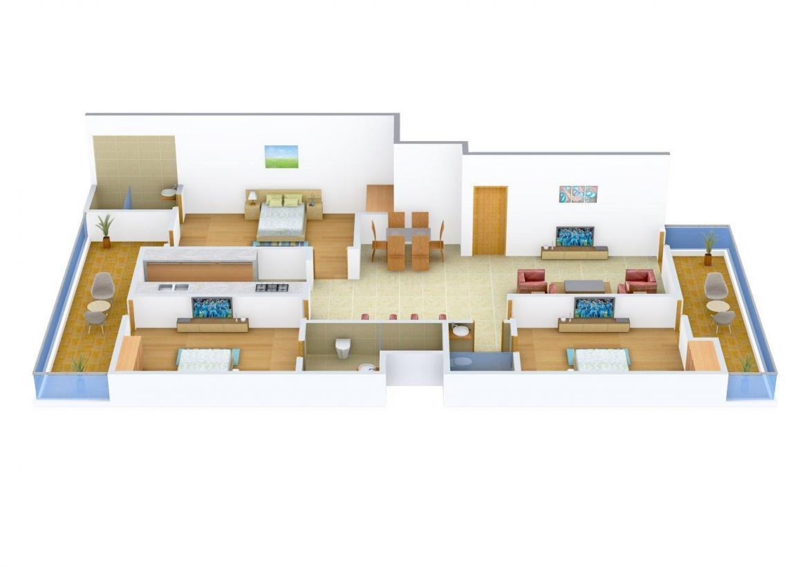 Floor Plan Image of 0 - 1500 Sq.ft 3 BHK Independent Floor for buy in Ambika - C1-2851
