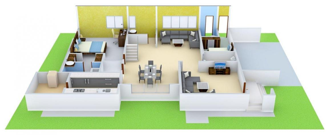 Gauthami Vivana Floor Plan: 4 BHK Unit with Built up area of 4896 sq.ft 6
