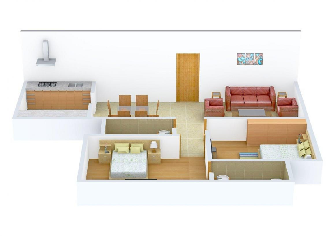 Floor Plan Image of 736.0 - 1234.0 Sq.ft 2 BHK Apartment for buy in ML Nivant