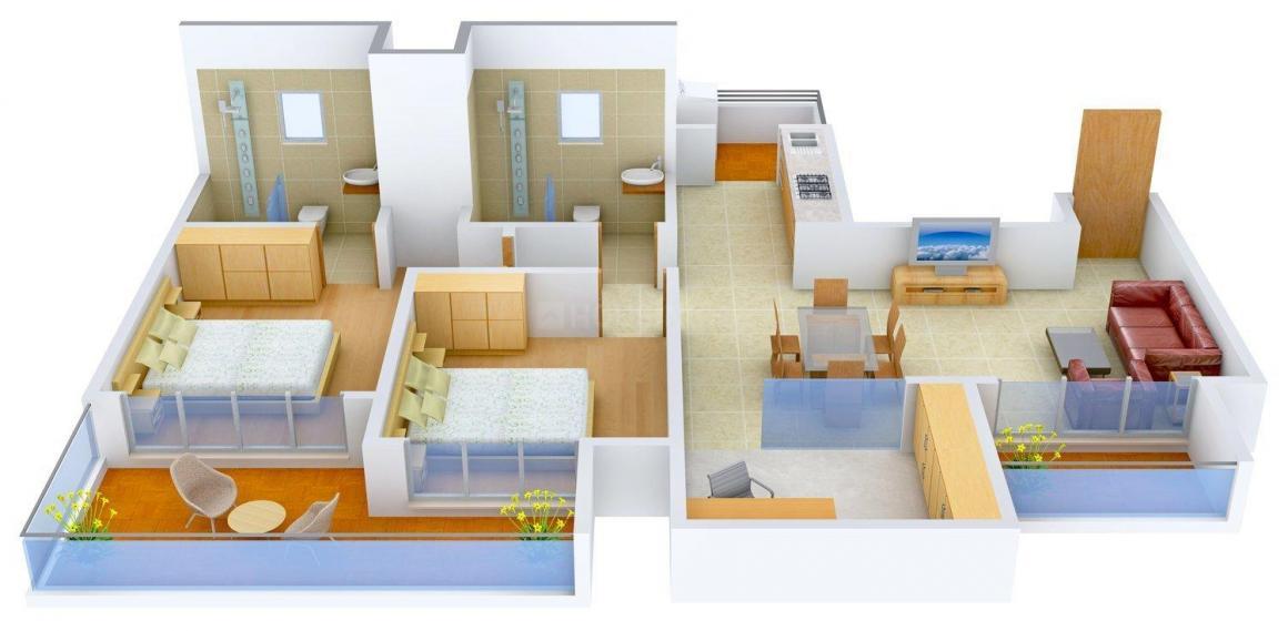 Mahagun Meadows Floor Plan: 2.5 BHK Unit with Built up area of 1425 sq.ft 1