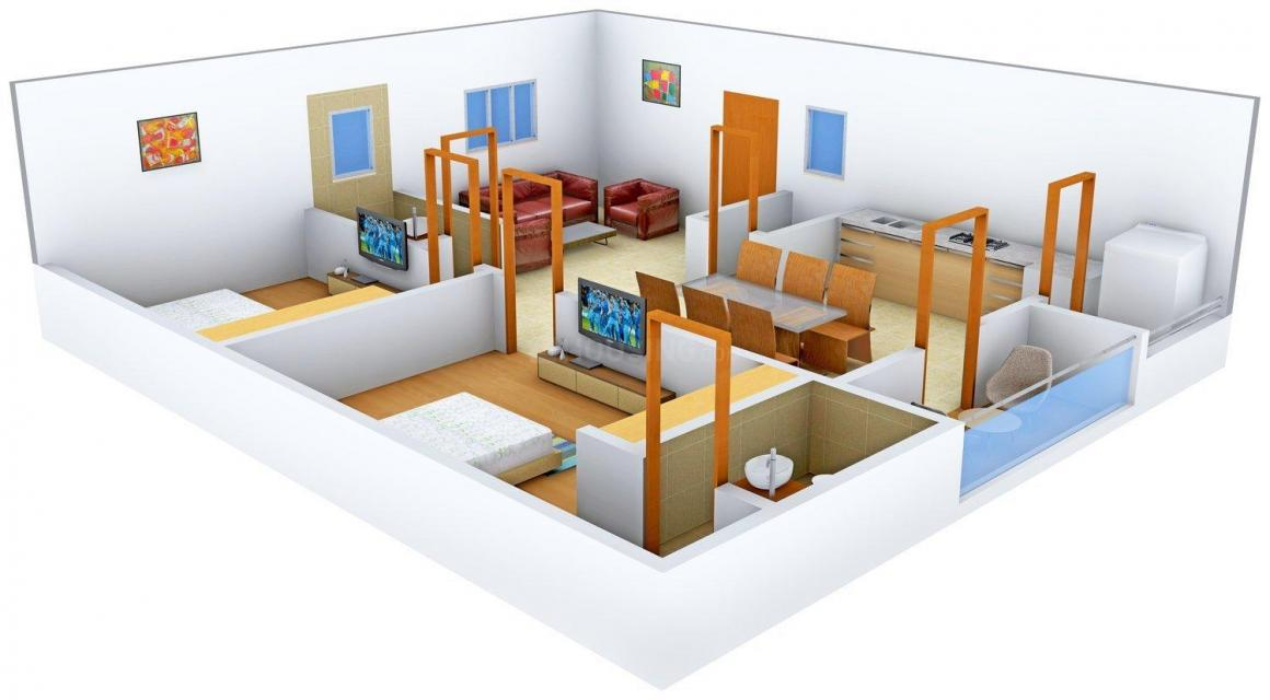 Floor Plan Image of 0 - 1130 Sq.ft 2 BHK Apartment for buy in Shambabvi Constructions