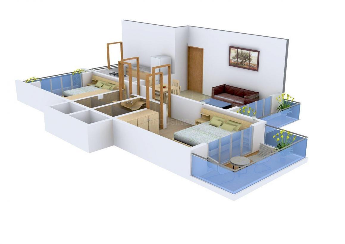 Floor Plan Image of 973 - 1276 Sq.ft 2 BHK Apartment for buy in Shiv Shankar
