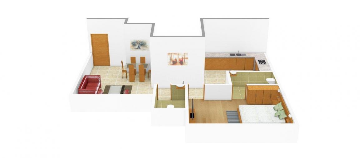 Floor Plan Image of 650 - 1050 Sq.ft 1 BHK Apartment for buy in Prime Elite