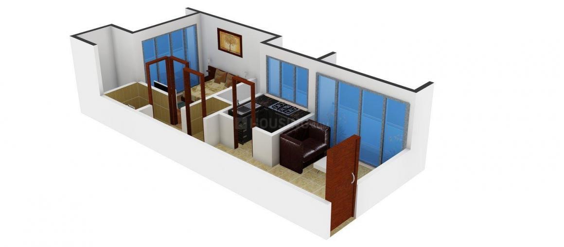 Floor Plan Image of 640.0 - 890.0 Sq.ft 1 BHK Apartment for buy in Sai Shivam Residency