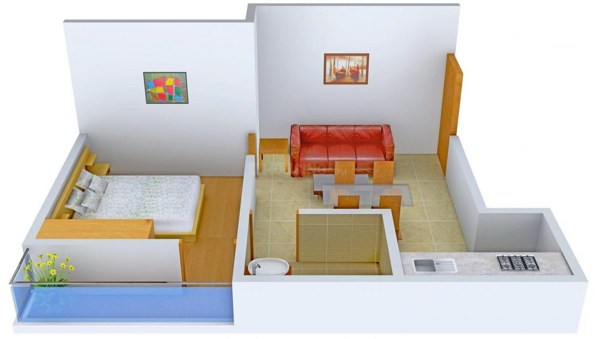 Floor Plan Image of 552.0 - 852.0 Sq.ft 1 BHK Independent Floor for buy in DV - 2