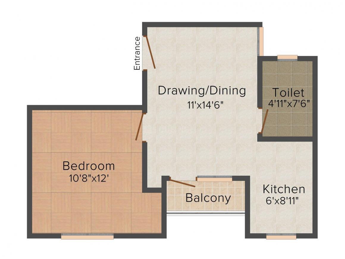 Floor Plan Image of 450.0 - 1170.0 Sq.ft 1 BHK Independent Floor for buy in Property Street 4