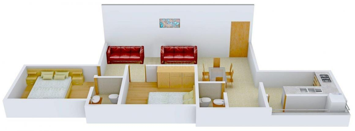 Floor Plan Image of 875 - 1288 Sq.ft 2 BHK Apartment for buy in Kaniska Viviana