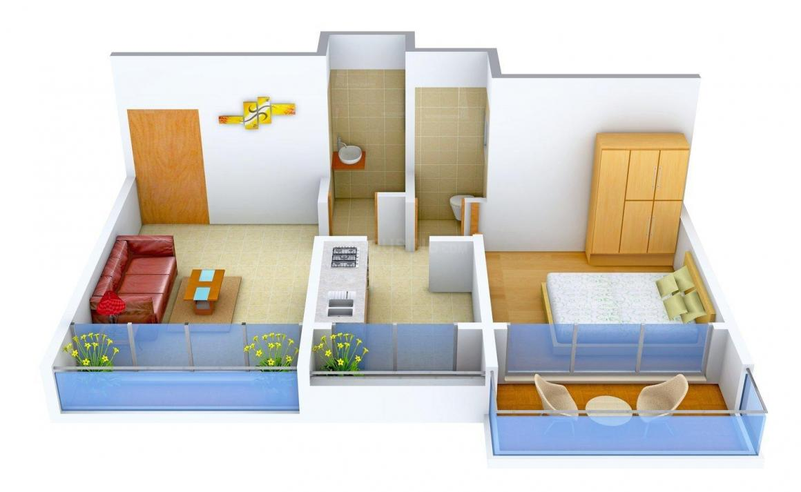 Floor Plan Image of 700 - 1460 Sq.ft 1 BHK Apartment for buy in Lucky Dream Paradise