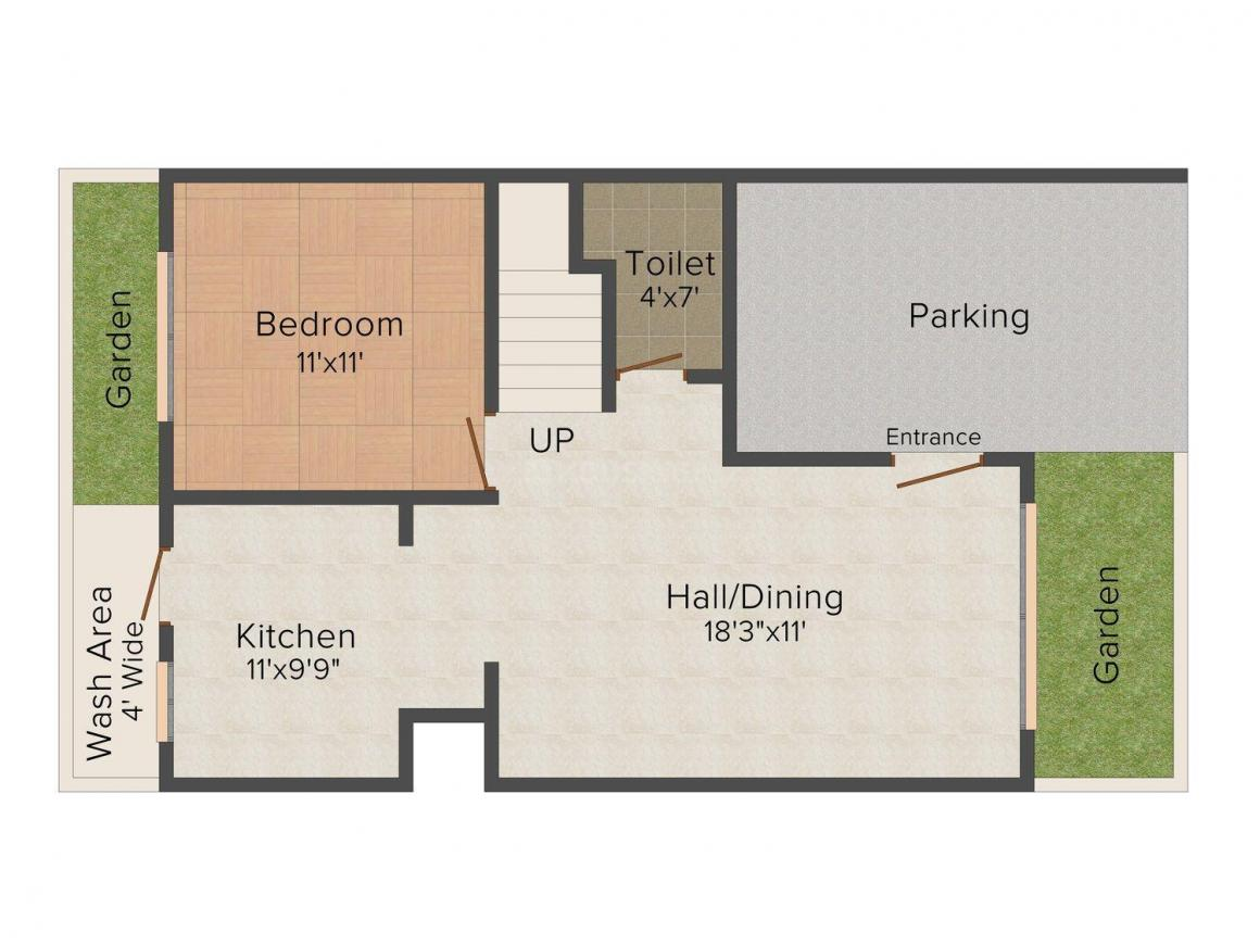 Floor Plan Image of 0 - 1525.0 Sq.ft 3 BHK Row House for buy in Heritage Park Row House