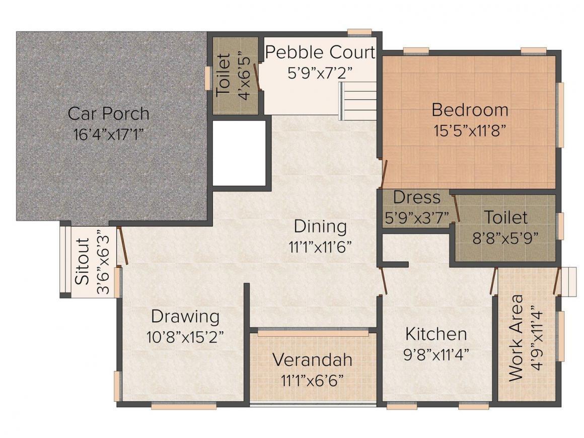 Floor Plan Image of 3232 - 4116 Sq.ft 4 BHK Villa for buy in Noel Fragranz