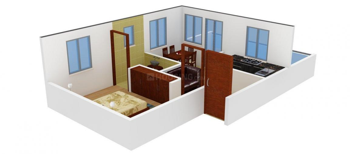 Floor Plan Image of 524.0 - 753.0 Sq.ft 1 BHK Apartment for buy in Sri Devi SDB Fortuna