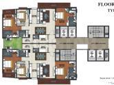 TGB Meghdutam Floor Plan: 3 BHK Unit with Built up area of 2250 sq.ft 1