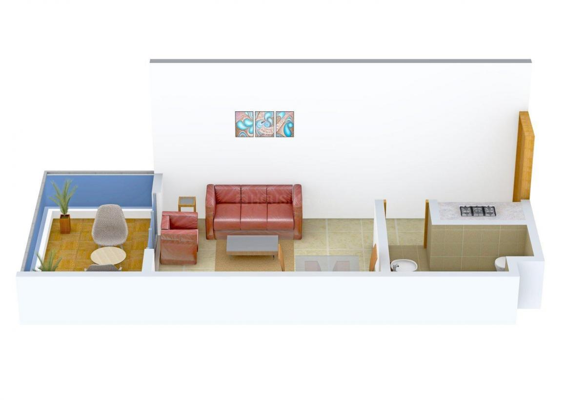 Floor Plan Image of 377 - 1442 Sq.ft 1 RK Studio Apartment for buy in Four Seasons Perola