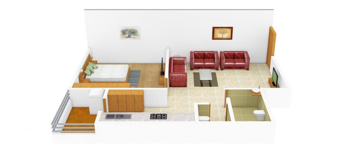 Devam Love Kush Heights Floor Plan: 1 BHK Unit with Built up area of 747 sq.ft 1