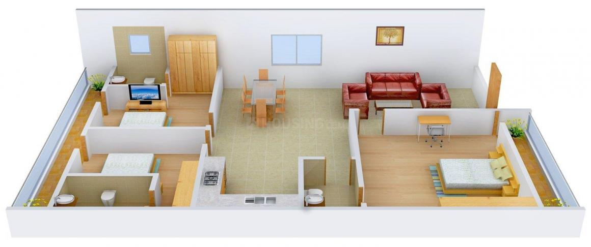 Floor Plan Image of 0 - 1800 Sq.ft 3 BHK Independent Floor for buy in Satyam Apartment - 93