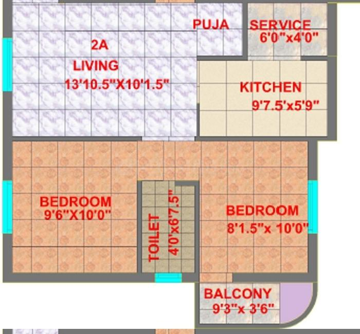 Floor Plan Image of 545.0 - 1300.0 Sq.ft 1 BHK Apartment for buy in CC Smart House