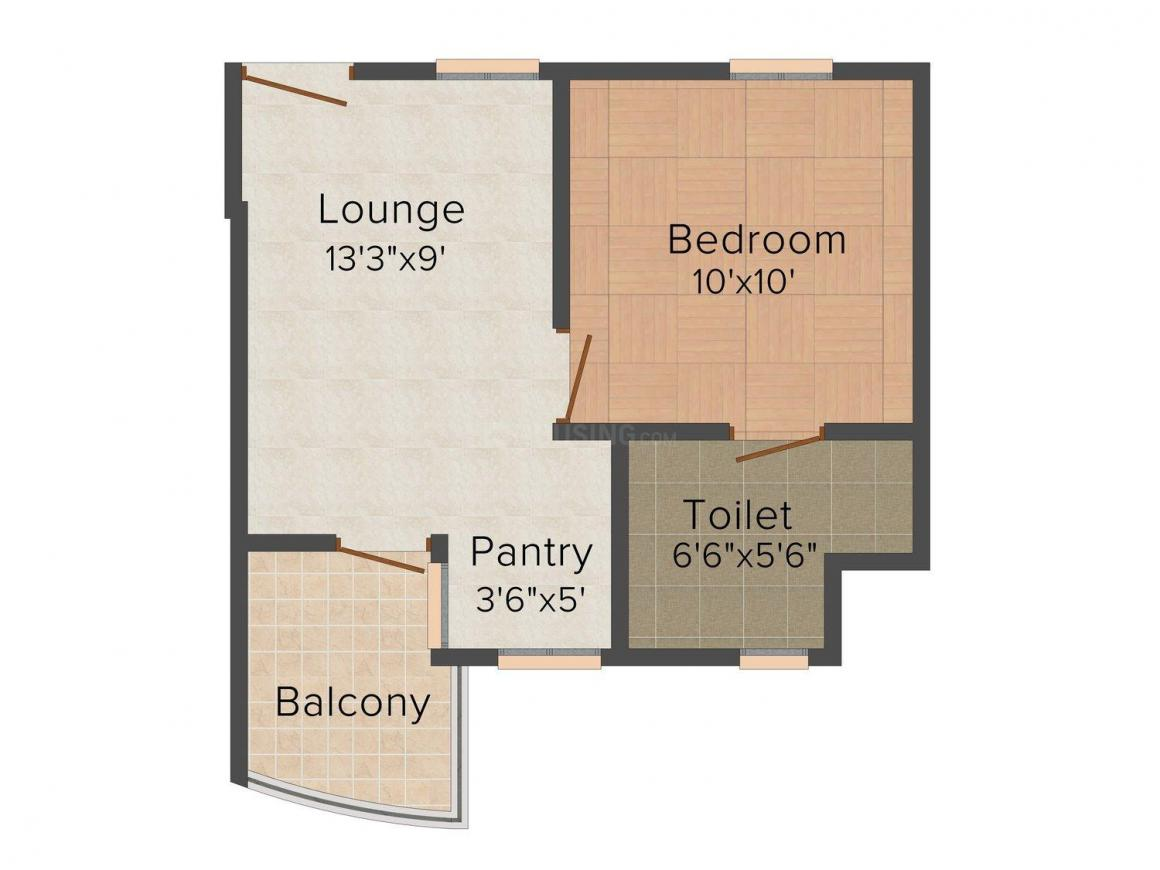 Floor Plan Image of 495 - 3450 Sq.ft 1 BHK Apartment for buy in SDC Karan Heights