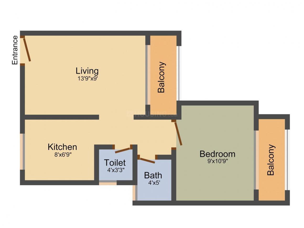 Floor Plan Image of 420.0 - 960.0 Sq.ft 1 RK Apartment for buy in Lalji Madhavji & Sons White Castle