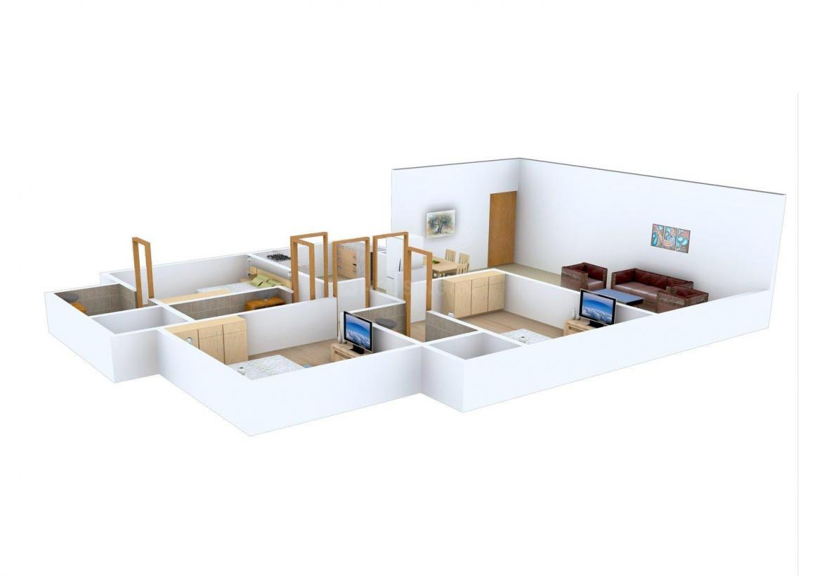 Floor Plan Image of 1130 - 1184 Sq.ft 3 BHK Apartment for buy in Bhoomi Aura Biplex