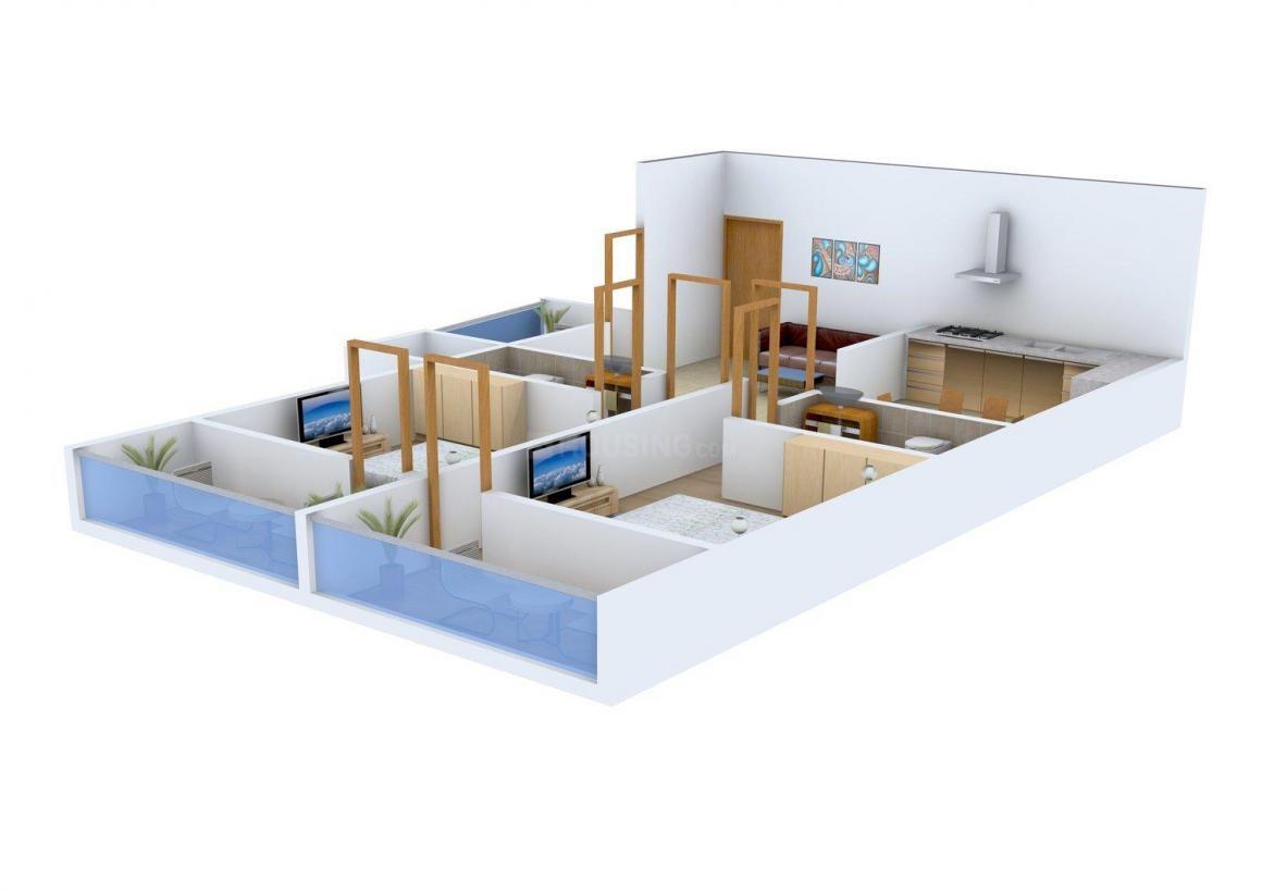 Floor Plan Image of 0 - 1200 Sq.ft 2 BHK Independent Floor for buy in HBM Floors-III