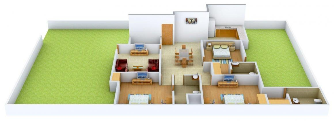 Floor Plan Image of 0 - 1630 Sq.ft 3.5 BHK Independent Floor for buy in Jatwani Floors