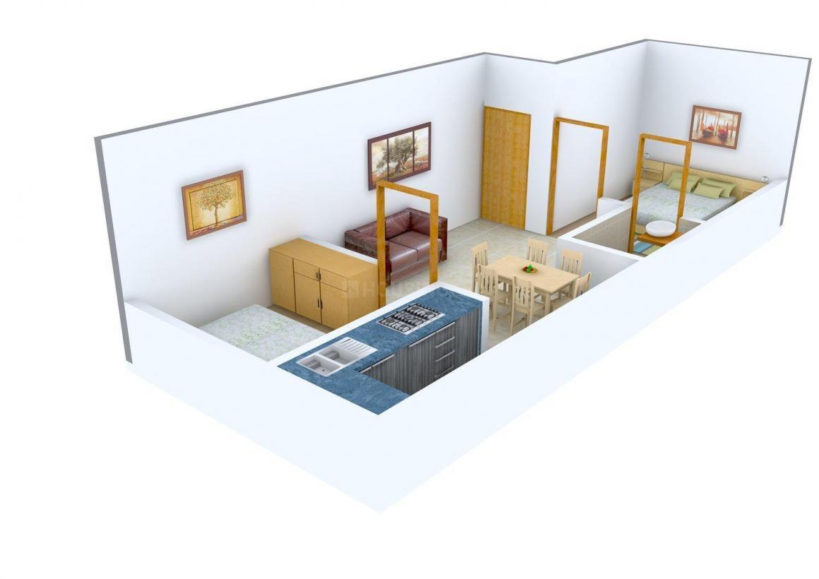 Floor Plan Image of 464 - 878 Sq.ft 1 BHK Apartment for buy in PVK Nakshatra