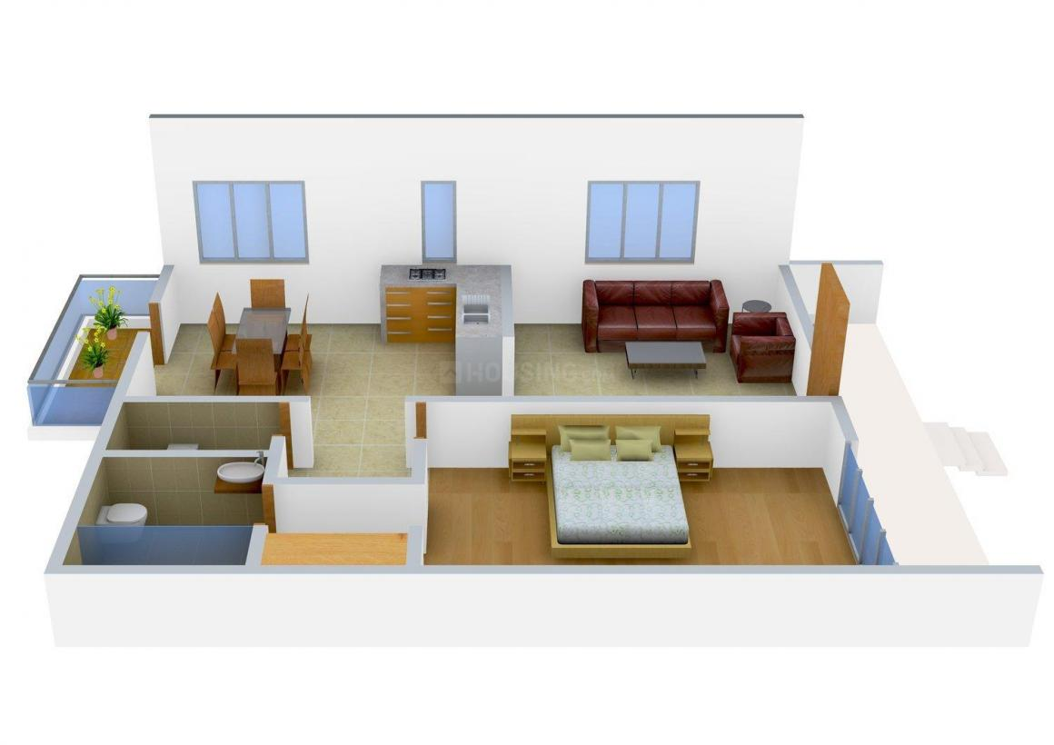 Floor Plan Image of 700 - 900 Sq.ft 1 BHK Row House for buy in Bahri Row Houses