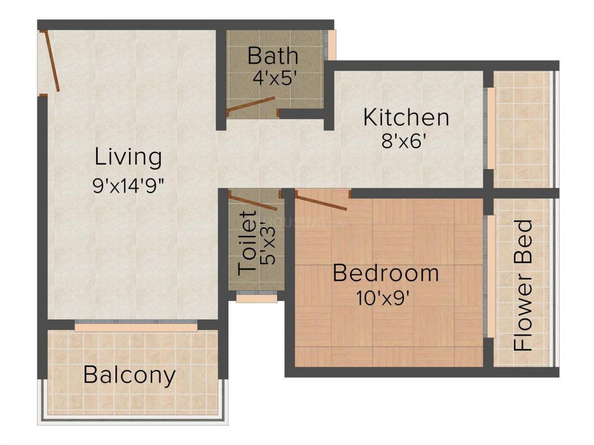 Floor Plan Image of 325.0 - 445.0 Sq.ft 1 RK Apartment for buy in Universal Shreepati Arcade