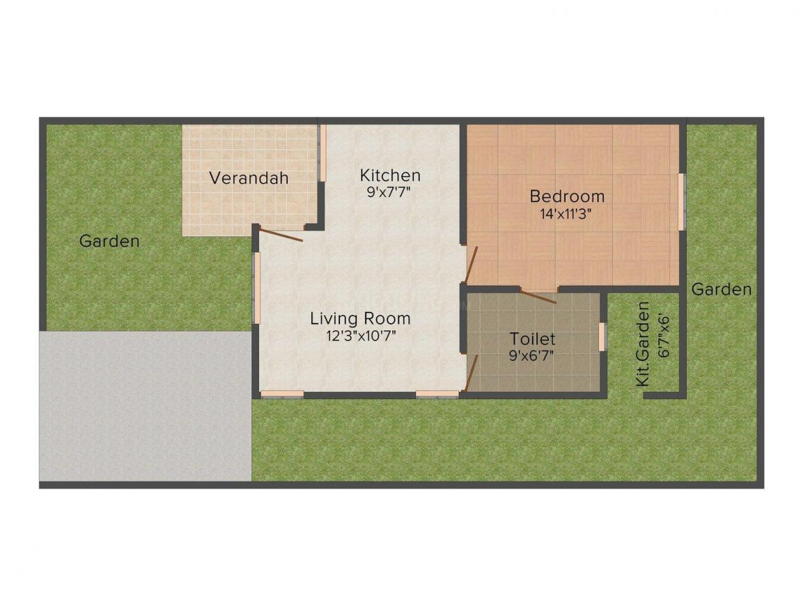 Floor Plan Image of 750 - 1150 Sq.ft 1 BHK Villa for buy in Shivank Infotech City