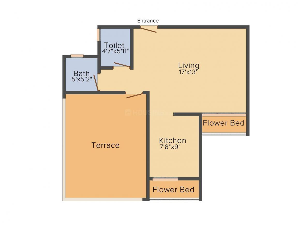 Floor Plan Image of 550 - 920 Sq.ft 1 RK Apartment for buy in Rashmi Odhav Krupa