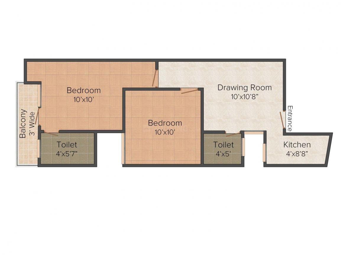 Floor Plan Image of 0 - 750 Sq.ft 2 BHK Independent Floor for buy in Sidharth Homes