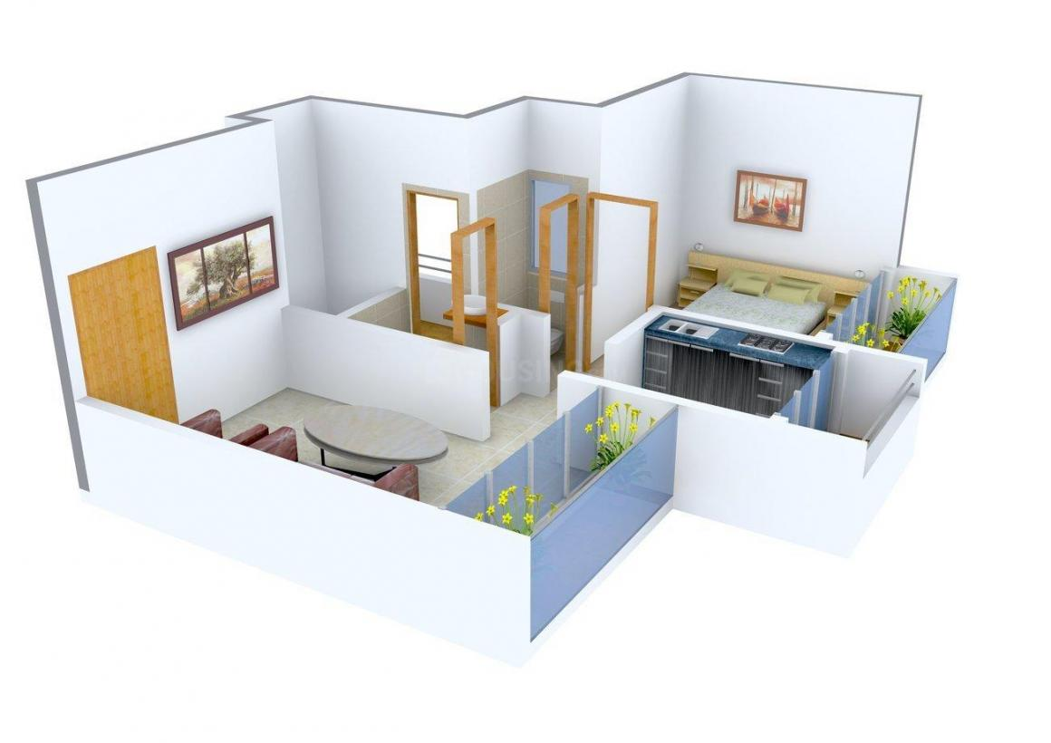 Floor Plan Image of 620 - 1180 Sq.ft 1 BHK Apartment for buy in Laxmi Aniruddha Enclave
