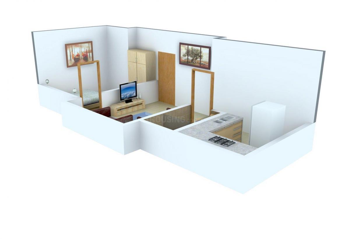 Floor Plan Image of 442.0 - 804.0 Sq.ft 1 BHK Apartment for buy in Sri Ganesh Sai Meera